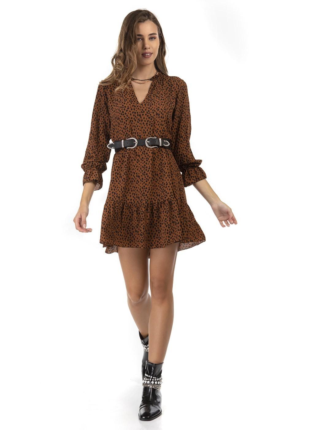 Φόρεμα κοντό animal print &...