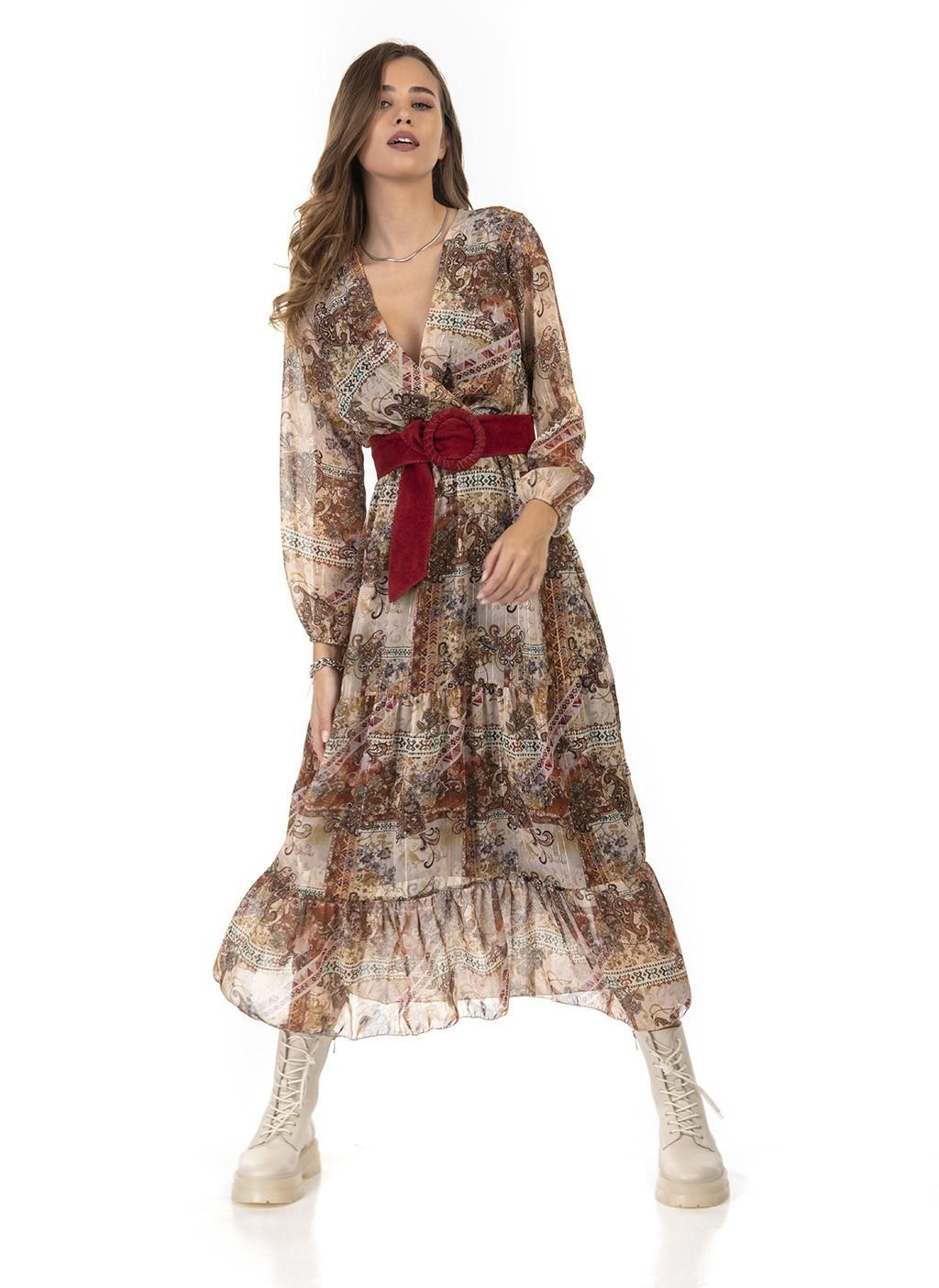 Φόρεμα μακρύ κρουαζέ με...