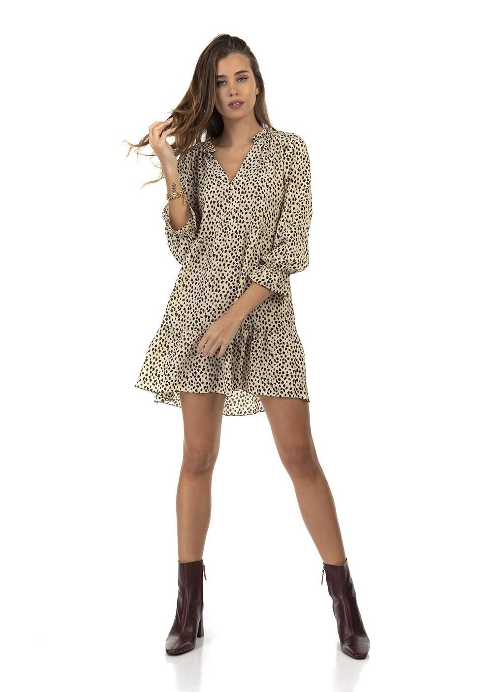 Φόρεμα κοντό animal print...