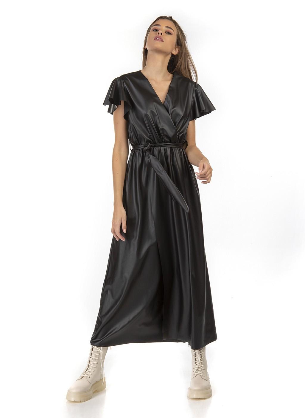 Φόρεμα μακρύ δερματίνη με...